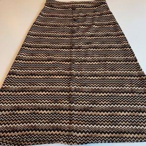 Forever 21 Missoni pattern zig zag skirt, sz S